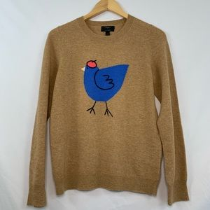 J. Crew cashmere crewneck French hen sweater